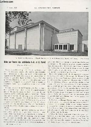 LA CONSTRUCTION MODERNE : 41 ANNEE - FASCICULE N°44 - 1er AOUT 1926 / NOTES SUR L'...