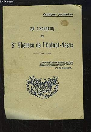 En l'honneur de Sainte Thérèse de l'Enfant-Jésus: COLLECTIF