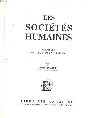 LES SOCIETES HUMAINES - EXEMPLES DE LEUR ORGANISATION: BIANCHERI ARMAND