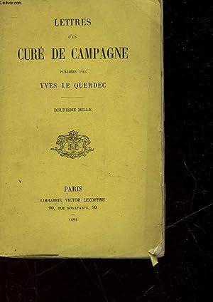 LETTRES D'UN CURE DE CAMPAGNE: QUERDEC YVES LE