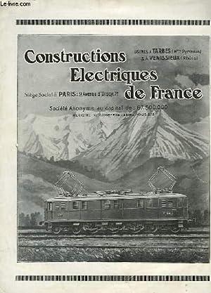 CONSTRUCTIONS ELECTRIQUES DE FRANCE: NON PRECISE