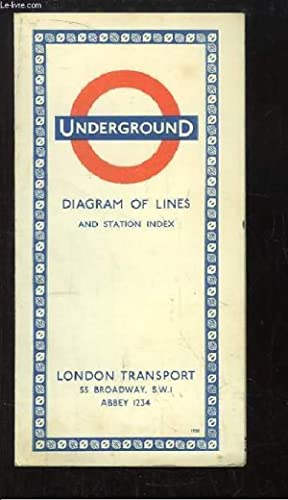 Underground. Diagram of Lines and Station Index: COLLECTIF