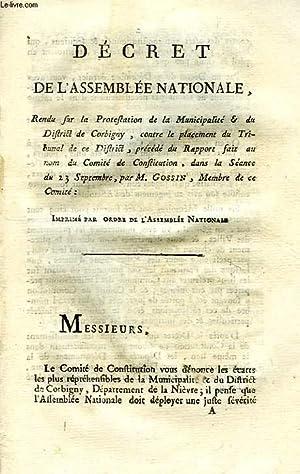 DECRET DE L'ASSEMBLEE NATIONALE, RENDU SUR LA: GOSSIN M.