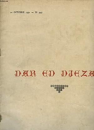 DAR ED DJEZAÏR, L'AFRIQUE DU NORD ILLUSTREE, N° 545, 10 OCT. 1931: COLLECTIF