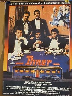 AFFICHE DE CINEMA - DINER: STEVE GUTTENBERG - DANIEL STERN - MICKEY ROURKE