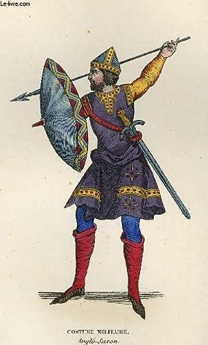 GRAVURE 19eme COULEURS - CHEF DE GUERRE ANGLO-SAXON: LACROIX PAUL