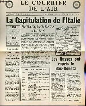 LE COURRIER DE L'AIR, APPORTE PAR LA R.A.F. - 11 SEPTEMBRE 1943 / CAPITULATION DE L'ITALIE ...