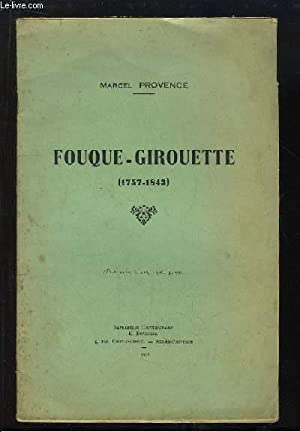 Fouque-Girouette (1757 - 1843): PROVENCE Marcel.