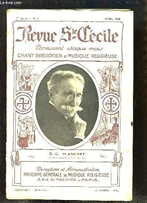 Revue Ste-Cécile N°4 - 20e année : D.C. Planchet - La Formation des Voix de Gar&...