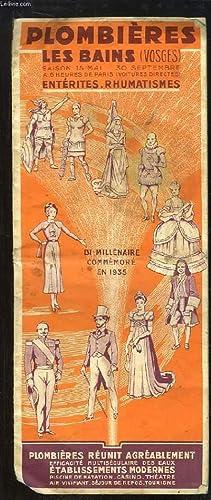 """Dépliant """"Plombières les Bains (Vosges). Bi-millénaire Commémor&..."""