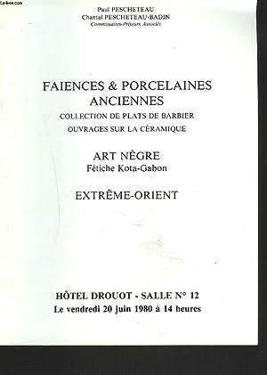 FAÏENCES ET PORCELAINES ANCIENNES. COLLECTION DE PLATS: Mes P. ET