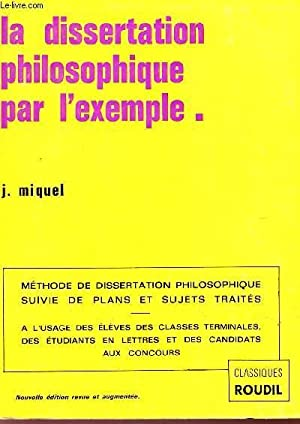 Dissertation philosophique sujets