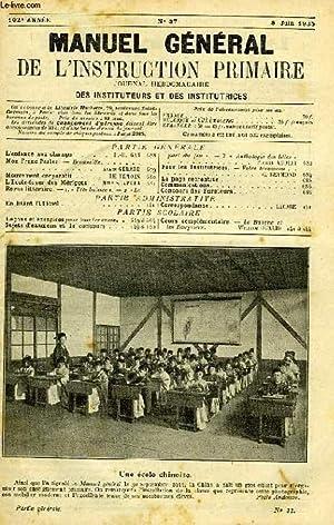 MANUEL GENERAL DE L'INSTRUCTION PRIMAIRE, 102e ANNEE,: COLLECTIF