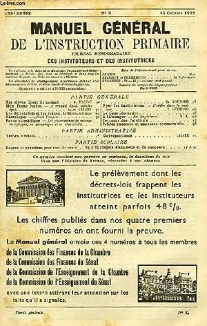 MANUEL GENERAL DE L'INSTRUCTION PRIMAIRE, 103e ANNEE,: COLLECTIF