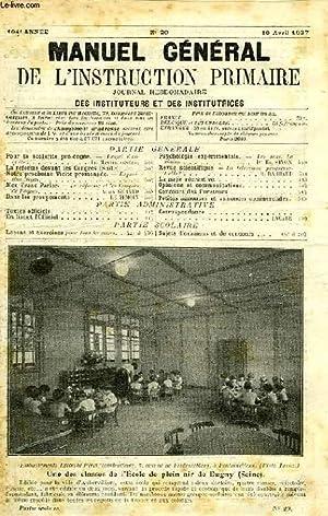 MANUEL GENERAL DE L'INSTRUCTION PRIMAIRE, 104e ANNEE,: COLLECTIF