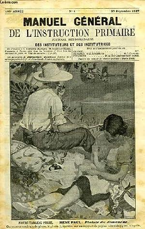 MANUEL GENERAL DE L'INSTRUCTION PRIMAIRE, 105e ANNEE,: COLLECTIF