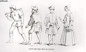 GRAVURE 19eme NOIR ET BLANC - COSTUMES: LACROIX PAUL