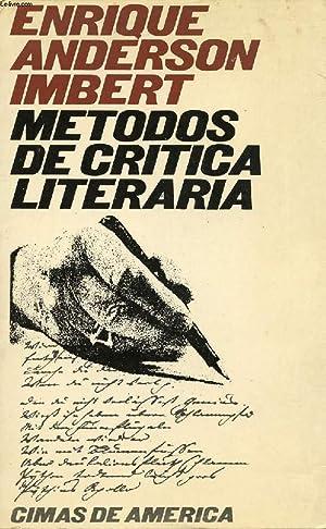 METODOS DE CRITICA LITERARIA: ANDERSON IMBERT ENRIQUE