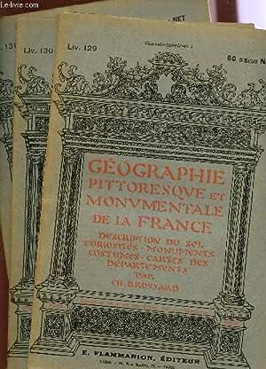 3 FASCICULES - LIV.129, 130 ET 131 - CHARENTE INFERIEURE I+II+III / GEOGRAPHIE PITTORESQUE ...