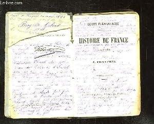HISTOIRE DE FRANCE COURS ELEMENTAIRE. 6em EDITION.: CHANTREL J.
