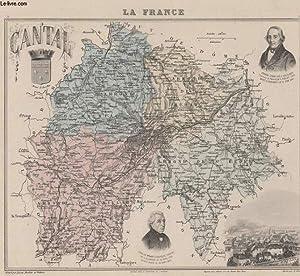 GRAVURE 19eme COULEURS - LA FRANCE - CANTAL - PLANCHE N°14