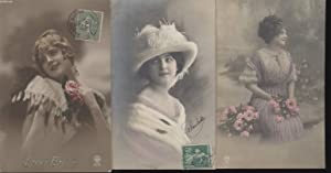 CARTES POSTALES ANCIENNES - CPA - LOT DE 3 CARTES POSTALES - DAMES