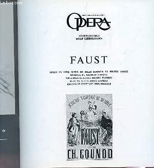 PLAQUETE DU THEATRE NATIONAL DE L'OPERA / FAUST, OPERA EN CINQ ACTES DE JULES BARBIER ET MICHEL...