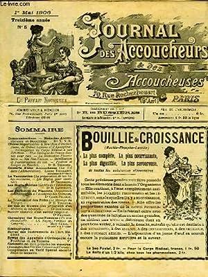JOURNAL DES ACCOUCHEURS ET DES ACCOUCHEUSES - 13° ANNEE N°5: COLLECTIF