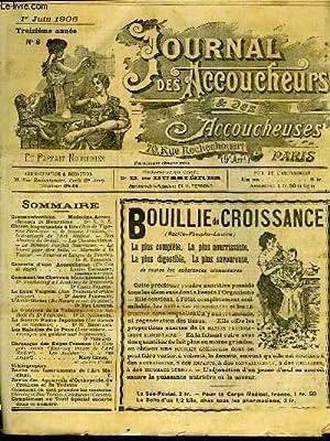 JOURNAL DES ACCOUCHEURS ET DES ACCOUCHEUSES - 13° ANNEE N°6: COLLECTIF