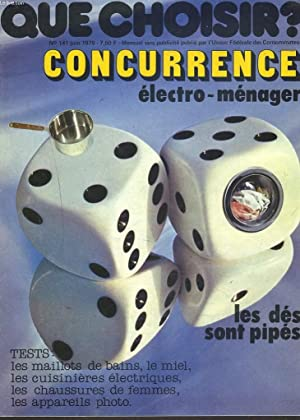 QUE CHOISIR, MENSUEL N°141, JUIN 1979. CONCURRENCE: COLLECTIF
