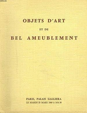 OBJETS D'ART ET DE BEL AMEUBLEMENT. OBJETS DE VITRINE. FAÏENCES ANCIENNES. TAPISSERIES. ...