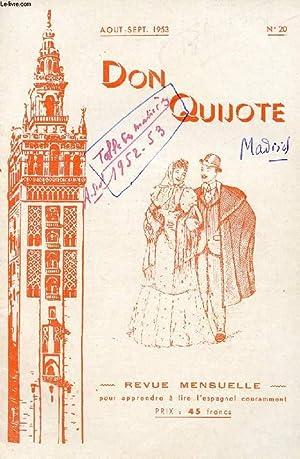 DON QUIJOTE, REVUE MENSUELLE POUR APPRENDRE A LIRE L'ESPAGNOL COURAMMENT, N° 20, AOUT-SEPT...