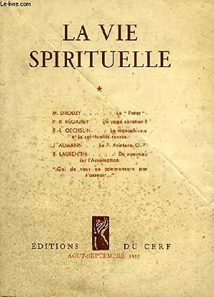 LA VIE SPIRITUELLE, N° 409, AOUT-SEPT. 1955: COLLECTIF