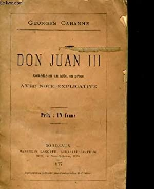 DON JUAN III.: CABANNE GEORGES.