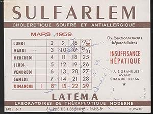 BUVARD - SULFARLEM: LABORATOIRE THERAPEUTIQUE MODERNE
