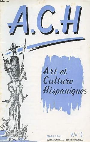 A.C.H., ART ET CULTURE HISPANIQUES, N° 3,: COLLECTIF