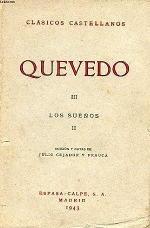 QUEVEDI, III, LOS SUEÑOS, II, CLÁSICOS CASTELLANOS, N° 34: QUEVEDO, Por J. ...