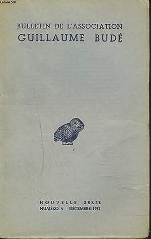 BULLETIN DE L'ASSOCIATION GUILLAUME BUDE. N°4 DE DECEMBRE 1947. FRANZ CUMONT PAR A.J. ...