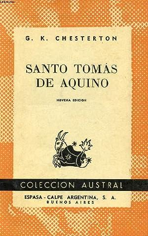 SANTO TOMAS DE AQUINO, COLECCIÓN AUSTRAL, N° 20: CHESTERTON G. K.