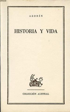 HISTORIA Y VIDA, COLECCIÓN AUSTRAL, N° 1314: AZORIN