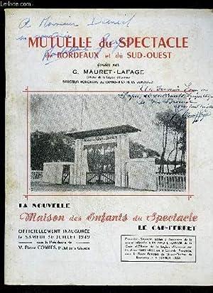 MUTUELLE DU SPECTACLE DE BORDEAUX ET DU SUD OUEST: MAURET-LAFAGE G.