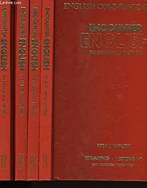 ENCOUNTER ENGLISH. THE BRITANNICA METHOD. EN 4 VOLUMES + 1 OUVRAGE ENGLISH COMMUNICATIONS + ...