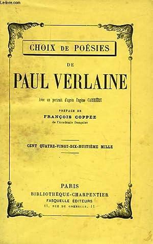 CHOIX DE POESIES: VERLAINE PAUL