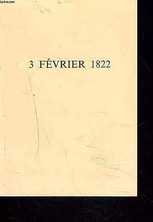 3 FEVRIER 1822.: SOEUR CLAUDINE FERRIER, SAINTE-FAMILLE DE BORDEAUX