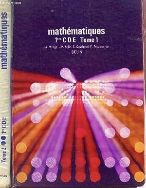 MATHEMATIQUES - CLASSE DE 1ere CDE -: MONGE / PELLE