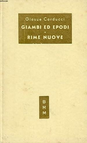 GIAMBI ED EPODI, RIME NUOVE: CARDUCCI GIOSUE