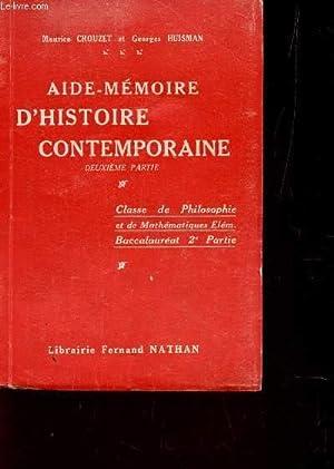 AIDE-MEMOI / CLASSE DE PHILOSOPHIE ET DE MATHEMATIQUES ELEMENTAIES -BACCALAUREAT - 2e PARTIE.:...