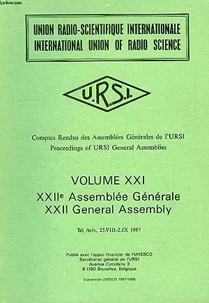 COMPTES RENDUS DES ASSEMBLEES GENERALES DE L'URSI,: COLLECTIF