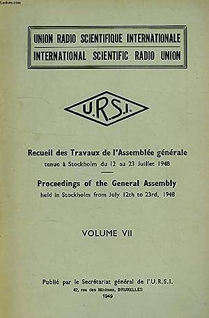 URSI, RECUEIL DES TRAVAUX DE L'ASSEMBLEE GENERALE: COLLECTIF