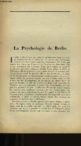 LA PSYCHOLOGIE DE BERLIN.: MAURICE MURET.